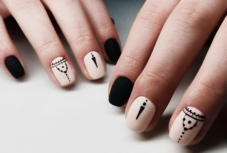 Пошаговый рисунок на ногтях