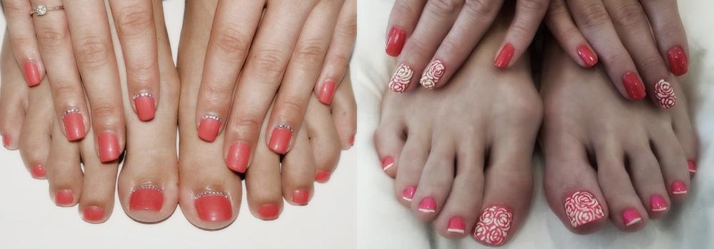 Цвет лака на руках и ногах
