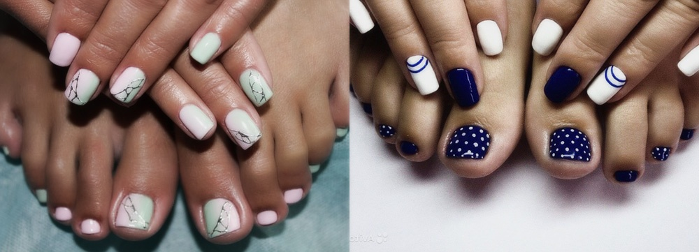 Дизайн ногтей на ногах и руках фото новинки
