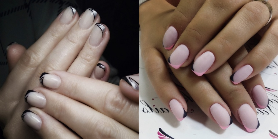 Дизайн ногтей 2017 френч на короткие ногти